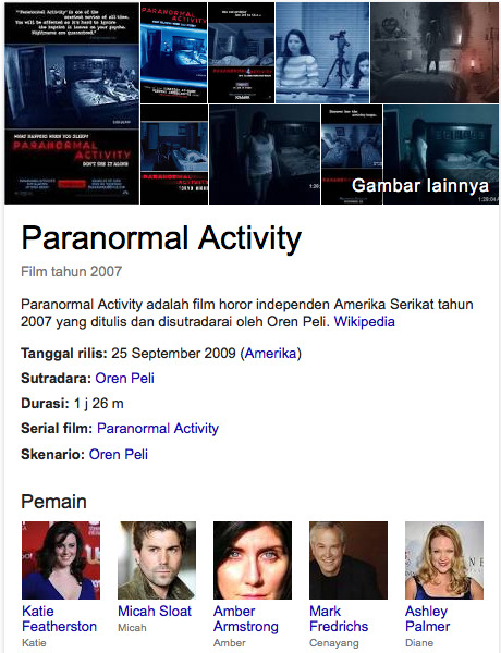 film horor hollywood paranormal activity