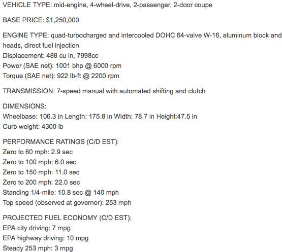 spesifikasi bugatti veyron indonesia