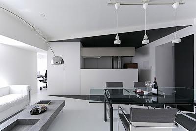 Ide Kreatif Desain Interior Rumah Minimalis Bertema Monokrom