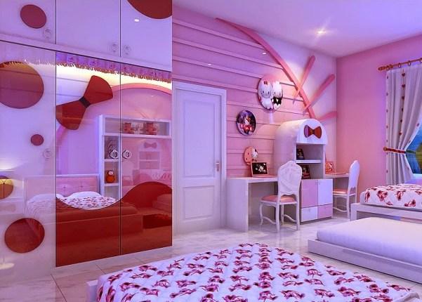 Konsep Desain Kamar Tidur Anak Hello Kitty Ini Bisa Menjadi Inspirasi Anda
