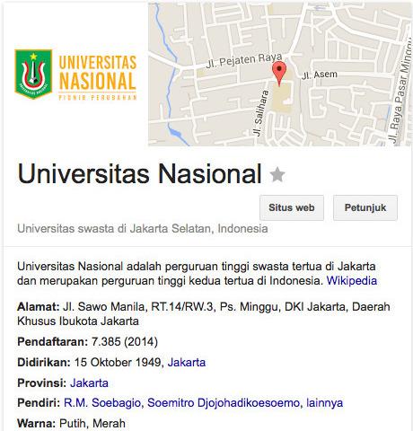 Universitas Nasional Jakarta