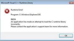 Tricks to Fix Runtime Error r6034