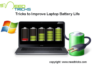 Tricks to Improve Laptop Battery Life