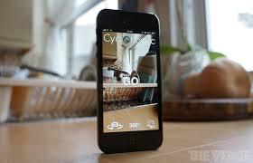 using cycloramic app in I phone 5/5S