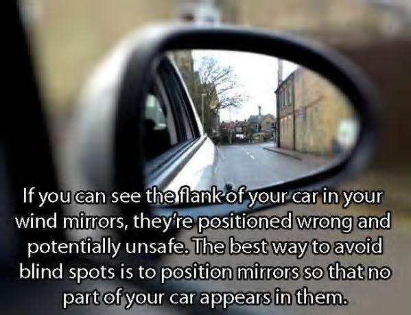 Position your Car mirror correctly