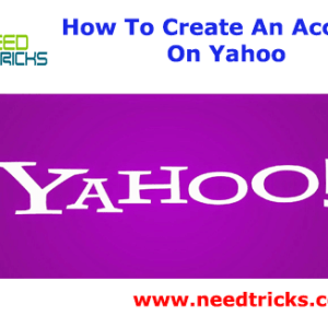 How To Create An Account On Yahoo
