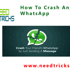 How To Crash Anyone's WhatsApp