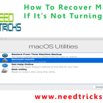 How To Recover MacOS If It's Not Turning On