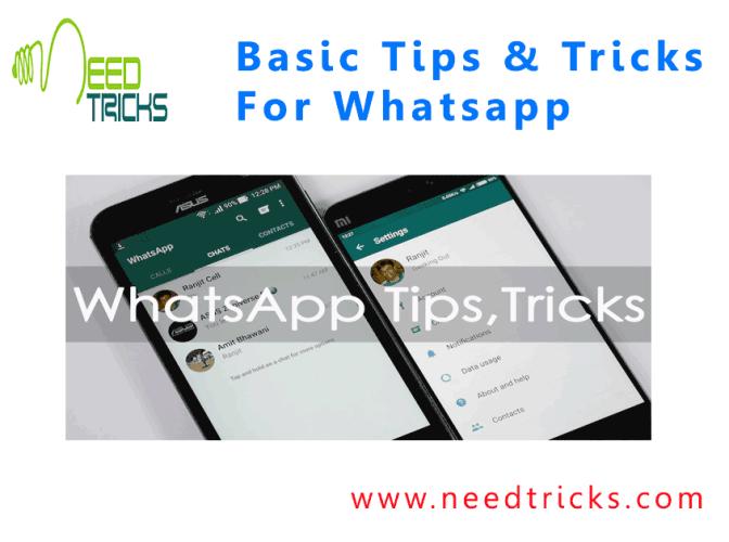 Basic Tips & Tricks For Whatsapp