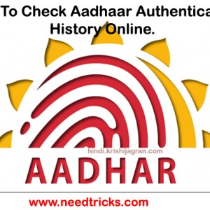 How To Check Aadhaar Authentication History.