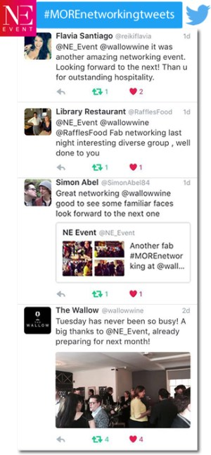 MORE Networking, tweets, Norwich, business networking, event