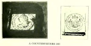 The dies these counterfeiters used.