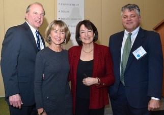 2015 Stephen Hamblett Award recipient  Nancy Gertner (third from left) with  members of the Hamblett family.