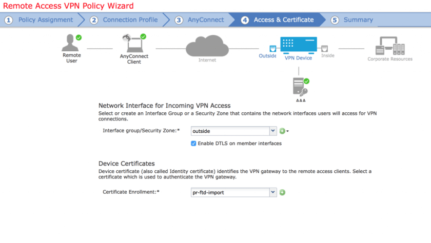 FTD 6 2 and Remote Access VPN (anyconnect) configuration