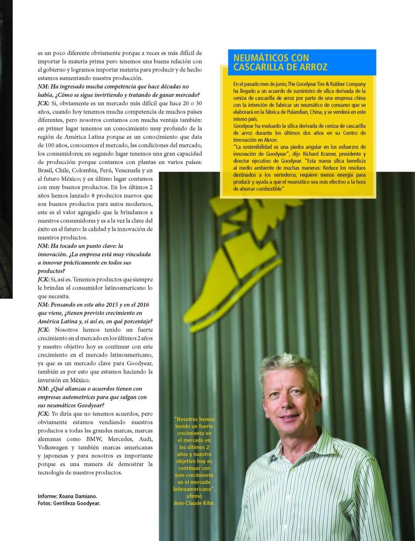 presidente de Goodyear para América Latina, Jean-Claude Kihn