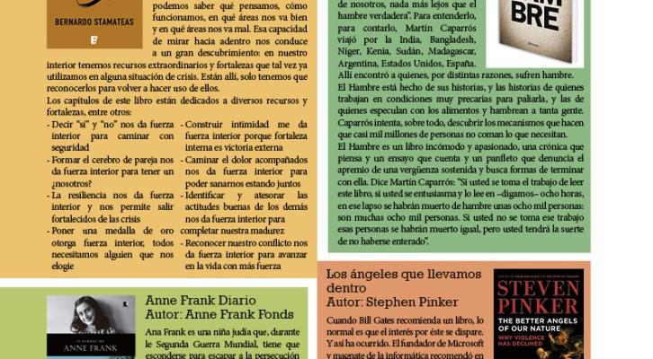 LOS LIBROS RECOMENDADOS PARA LEER ANTES DE FIN DE AÑO