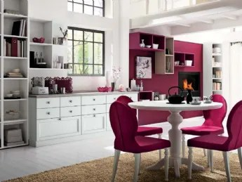 I mobili, in legno, chiarissimi o bianchi saranno abbinati a un tavolo vintage e a sedie con comodi cuscini in stoffa a fiori. Negozi Di Cucine Shabby Chic