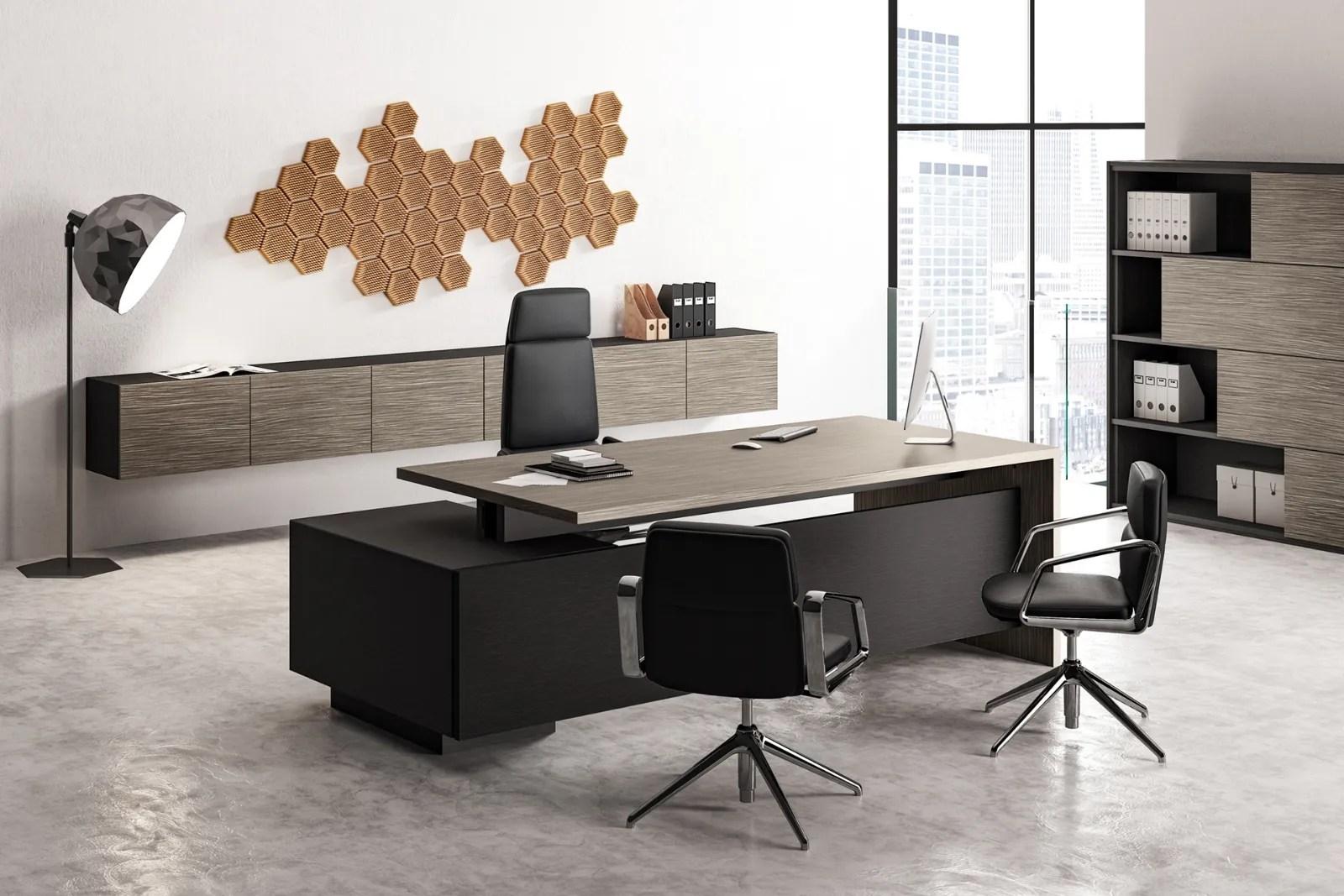 Nella realizzazione di arredi e mobili da ufficio a cagliari sardegna. Scrivania Direzionale Elite Di Las Mobili