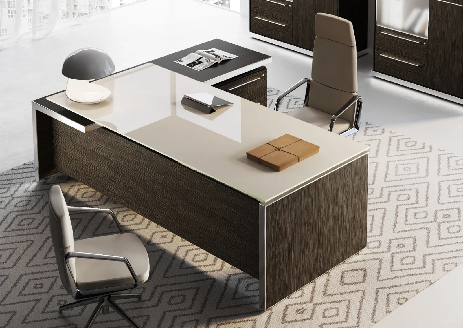 Mobili ufficio rasterodue per l'arredamento di uffici moderni. Scrivania Direzionale Eos Di Las Mobili