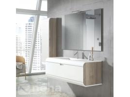 meuble salle de bain bord arrondi