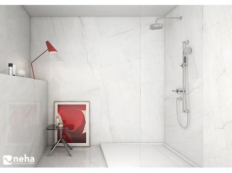 carrelage sol ou mural blanc veine