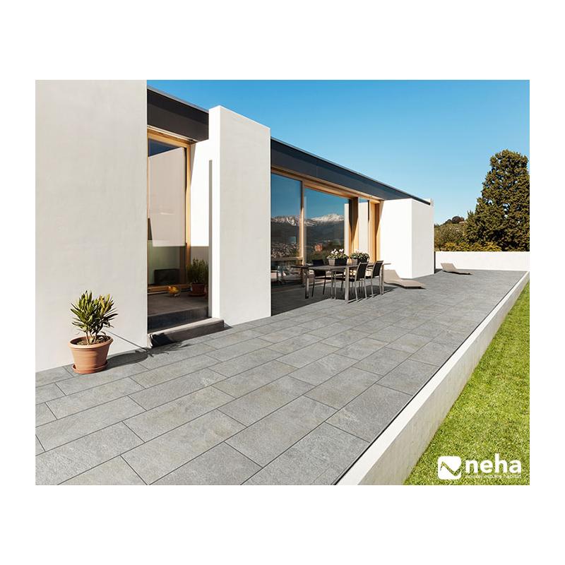 terrasse ou balcon bords irregulier gris