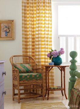 Carol Bancker Vietor Interior Decoration checked curtains
