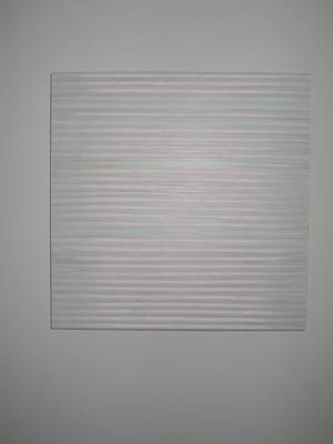"""""""I've used her in the past of clients. This one was commissioned for me as a gift. I love the metallic look. I love things that have horizontal lines."""""""