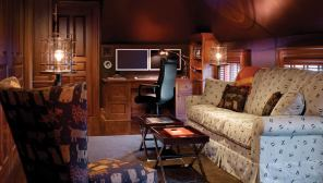 "The ""man cave"" is a cozy but masculine retreat."