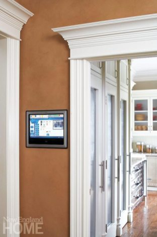 Streamlined panels are a user-friendly way to control a whole-house system.