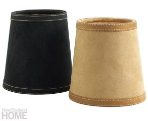 Palomino and black suede with Hermès-style stitched suede trim.
