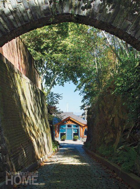 Newport boathouse driveway