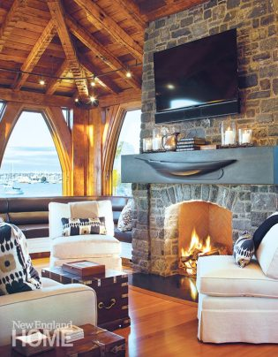 Newport boathouse mantel