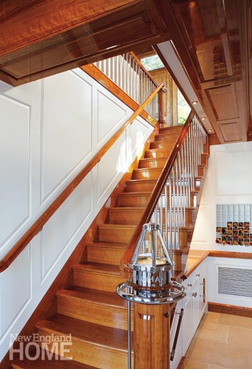 Newport boathouse stairs