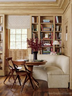Yet another corner of the family room makes the perfect spot for casual dining.