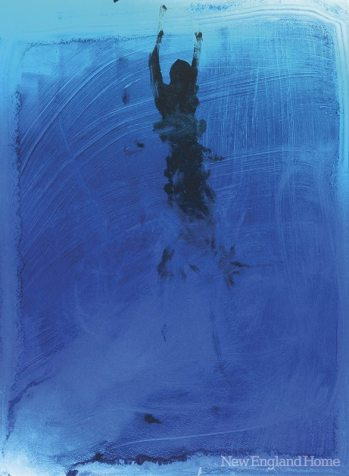 100 Lbs. of Water (2007), from the Swimmer series, monotype