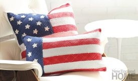 Nation on Vacation pillows in Glory.
