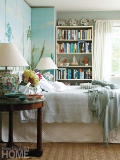 Laverge-Schade furnished the guests' rooms in the Old World style she's cherished all her life.