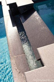Design elements are present even in the pool.