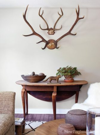Contemplate homeowner/designer Roch's vignettes and a subtle similarity of shapes emerges.