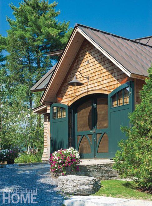 Lake Champlain vacation home boathouse