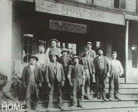 The Gault Bros. team in 1908.