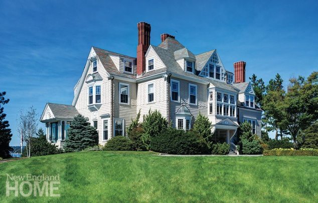Owner Tom Trkla fell for the classic Shingle-style house perched high atop a hill.