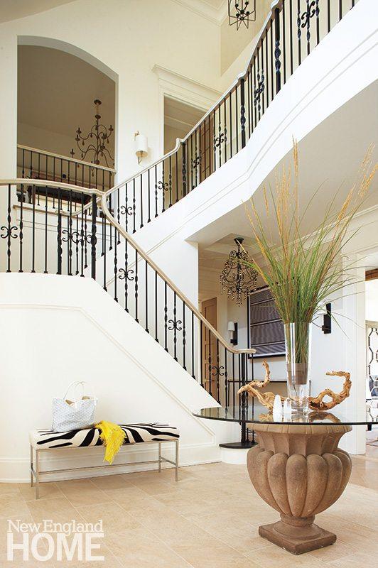 Contemporary Martha's Vineyard home staircase