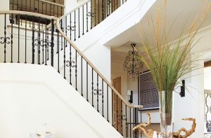 Contemporary Martha's Vineyard home staircase