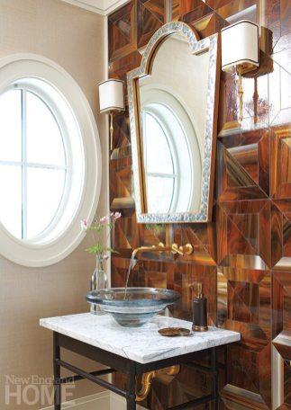 Contemporary Martha's Vineyard home powder room