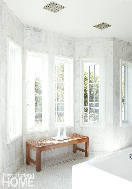 Contemporary Martha's Vineyard home master bath