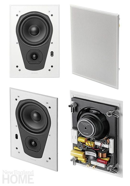 Speakers the size of a paperback book can be installed in a wall and rendered virtually invisible.