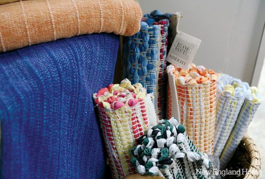 Island Weaves bath mats, made out of discarded towels, are among her biggest sellers.