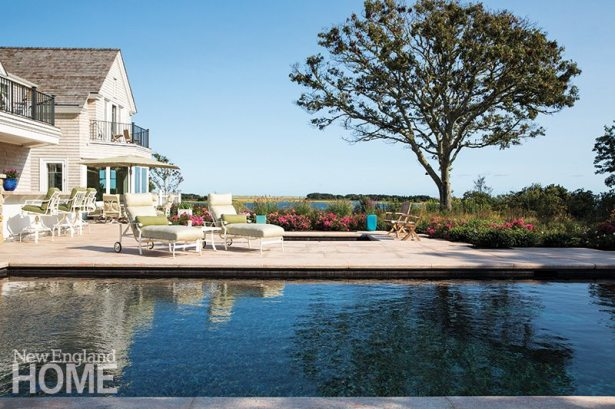 Landscape architect Gregory -Lombardi's plan enhances an already dazzling site, while the multiple decks of the house designed by architect Doreve -Nicholaeff give the homeowners ample opportunity to enjoy the views.